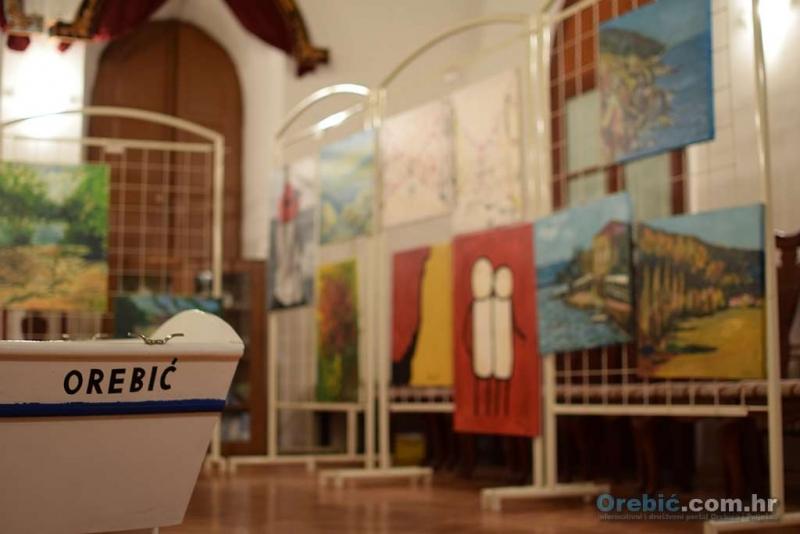 Izložba radova s ovogodišnje slikarske kolonije u Orebiću