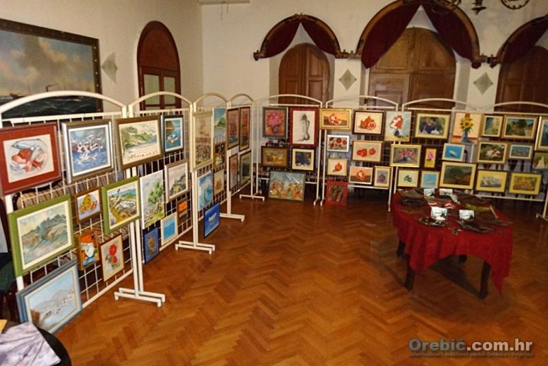 S izložbe Udruge likovnih umjetnika Pelješac održane prošle zime u Orebiću