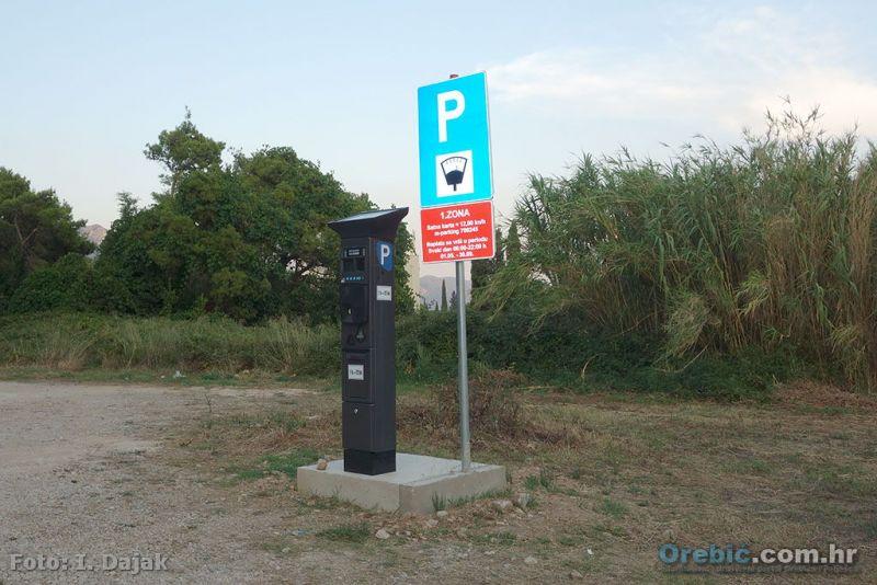 Ilustracija:; Uređaj za naplatu parkiranja kod hotela Aminess