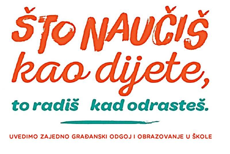 Plakat kampanje inicijative GOOD za uvođenje građanskog odgoja i obrazovanja