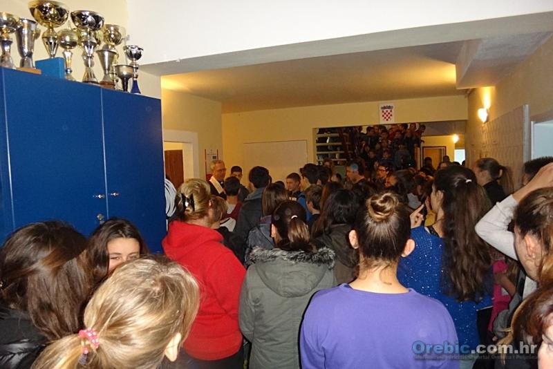 Prošlogodišnji blagoslov u privremenim prostorijama OŠ Orebić