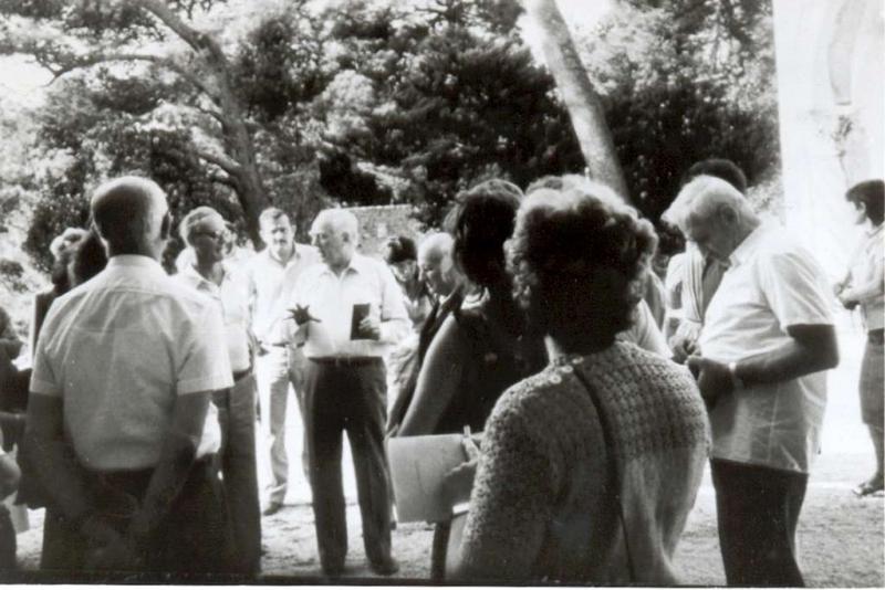 akad. Cvito Fisković  u vrtu vile Petra Sorkočevića na Lapadskoj obali u Dubrovniku