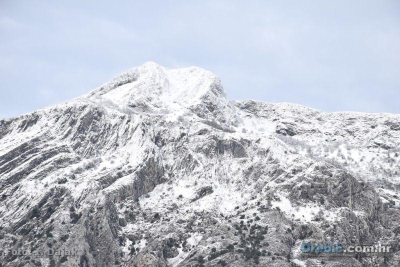 Ilustracija:snijeg se topi - zadržava se samo u višim predjelima