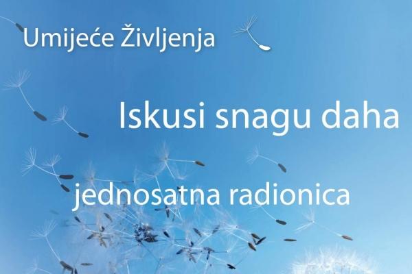Radionica pravilnog disanja u subotu u Orebiću