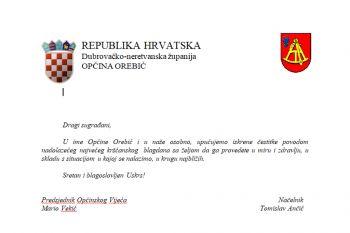 Čestitka Općine Orebić povodom Uskrsa