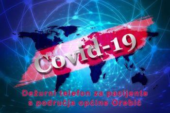 Važno: Dežurni telefon za pacijente s područja Općine Orebić u slučaju sumnje na zarazu Covid-19!