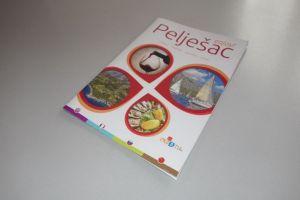 Ilustracija stare image brošure Pelješca