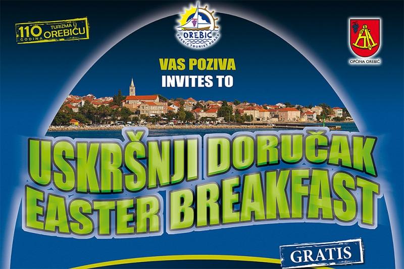 TZO Orebić vas poziva na uskršnji doručak