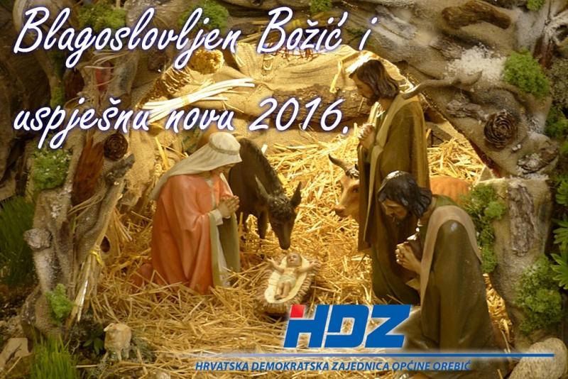 Božićna čestitka OO HDZ Orebić