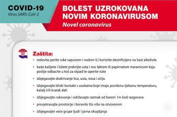 Detalj plakata s osnovnim preventivnim mjerama za sprečavanje širenja infekcija