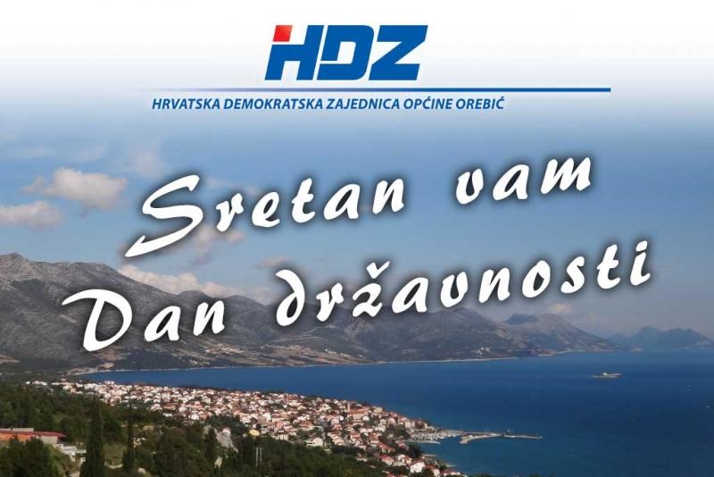 Čestitka povodom Dana državnosti - OO HDZ Općine Orebić