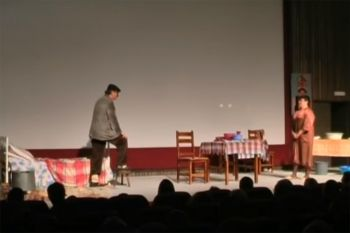 Iz predstave 'Crnogorac u krevetu'
