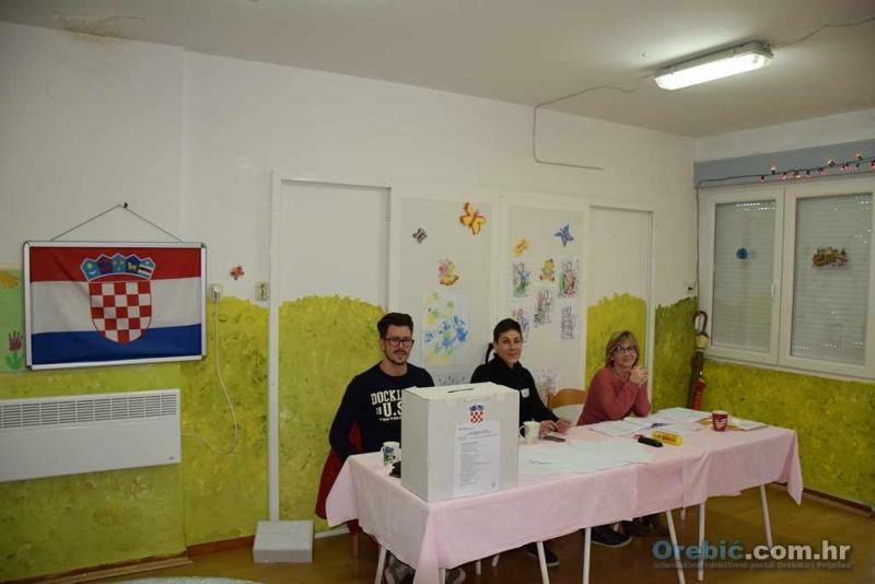 Obrađena sva biračka mjesta na području općine Orebić - Grabar - Kitarović pobjednik za 2 glasa