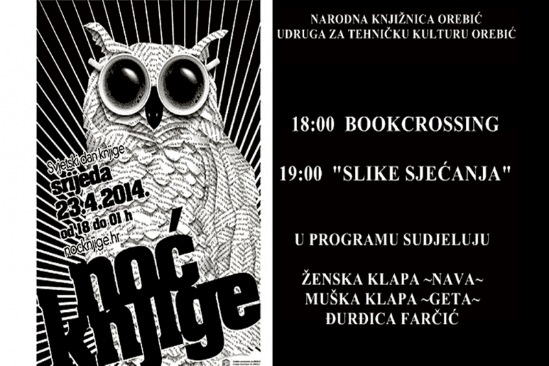 Noć knjige u Narodnoj knjižnici Orebić