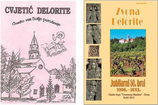 "Prvi (izvorno naslovljen ""Cvjetić Delorite"") i pedeseti broj ""Zvona Delorite"""