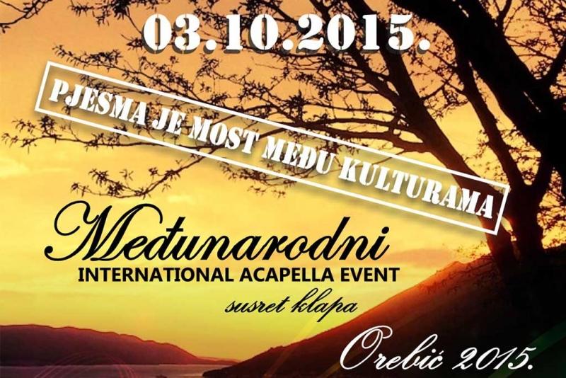 Međunarodni Susret klapa - u subotu, 3.10. u Orebiću