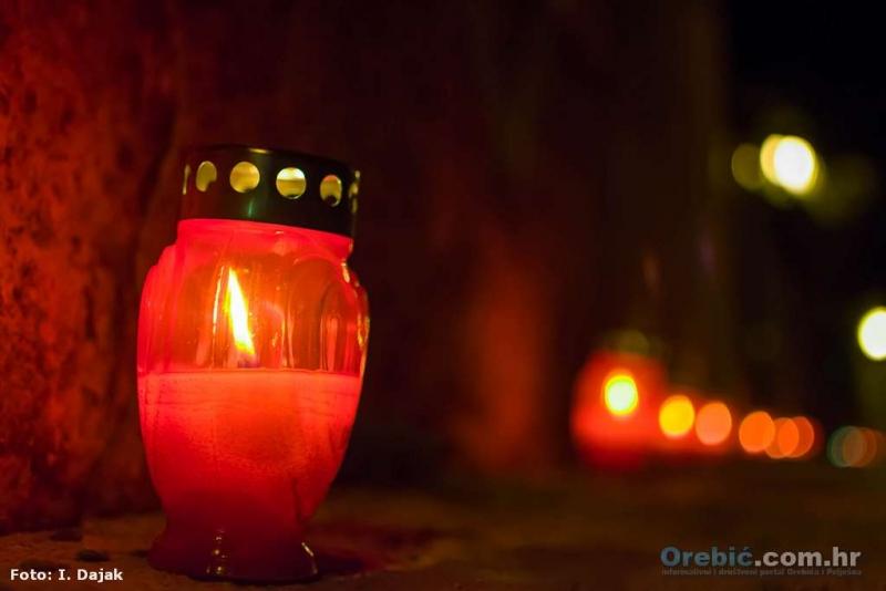 Svijeće za Vukovar na Obali Pomoraca u Orebiću