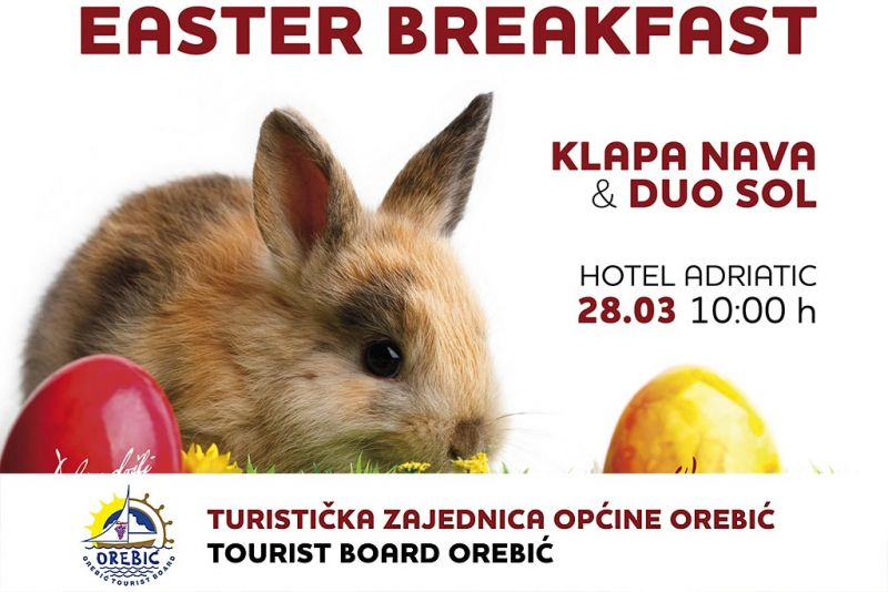 'Uskršnji doručak' u Orebiću - 28.3. pred hotelom 'Adriatic'