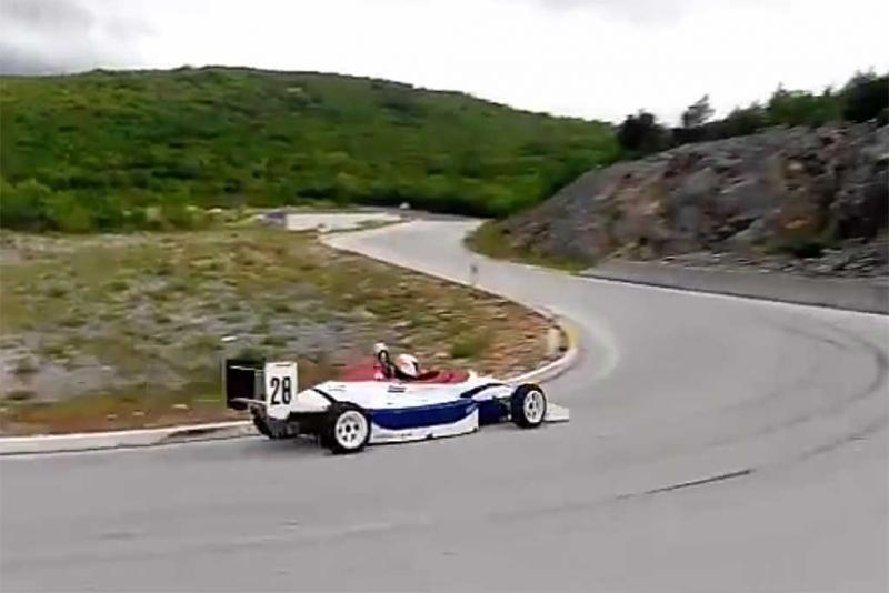 Božo za upravljačem Formule Opel - Lotus