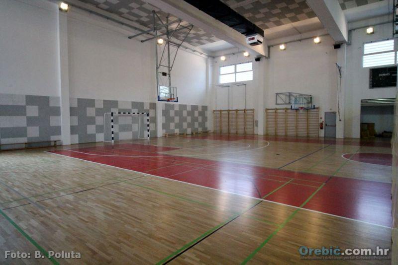 Ilustracija: školska sportska dvorana u Orebiću