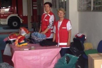 Volonterke Crvenog križa u akciji