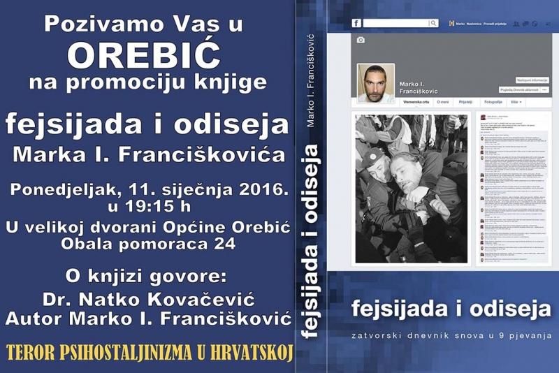 Predstavljanje knjige Marka Franciškovića u Orebiću u ponedjeljak