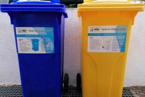 Ilustracija: spremnici za odvojeno prikupljanje komunalnog otpada