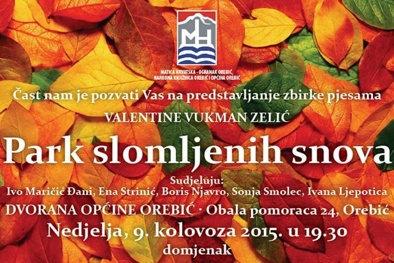 Predstavljanje zbirke pjesama Valentine Vukman Zelić