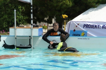 Besplatno probno ronjenje za djecu u Orebiću
