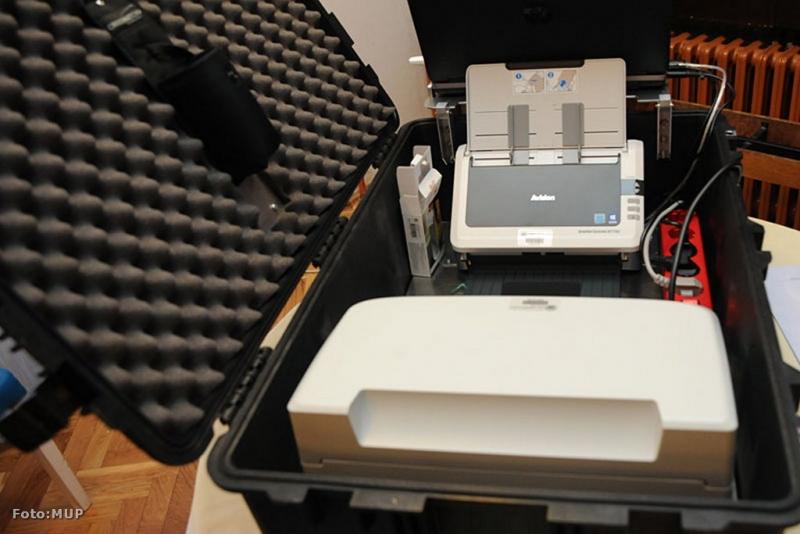 Prijenosni šalter MUP-a u koferu