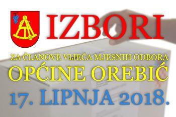 Tko se natječe za članove vijeća mjesnih odbora na području općine Orebić? Objavljene kandidacijske liste.