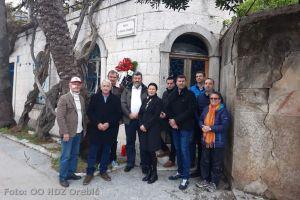 Polaganje vijenca u Orebiću