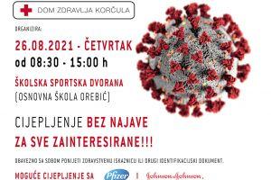 Cijepljenje bez najave - po drugi put u Orebiću u četvrtak, 26. kolovoza!