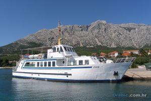 Ilustracija: brodica 'Lovor' u Orebiću