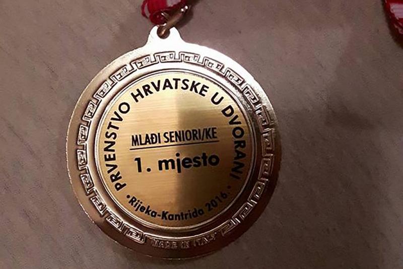 Još jedna zlatna medalja za Mariju Tolj - dvoransko PH za mlađe seniorke u Rijeci