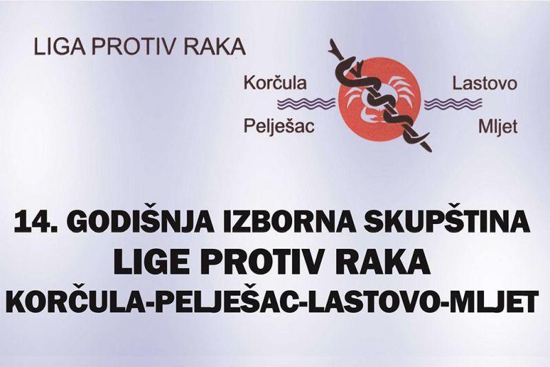 14. godišnja izborna skupština Lige protiv raka - sutra u Orebiću