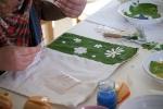 Bojanje tkanine sa šablonama