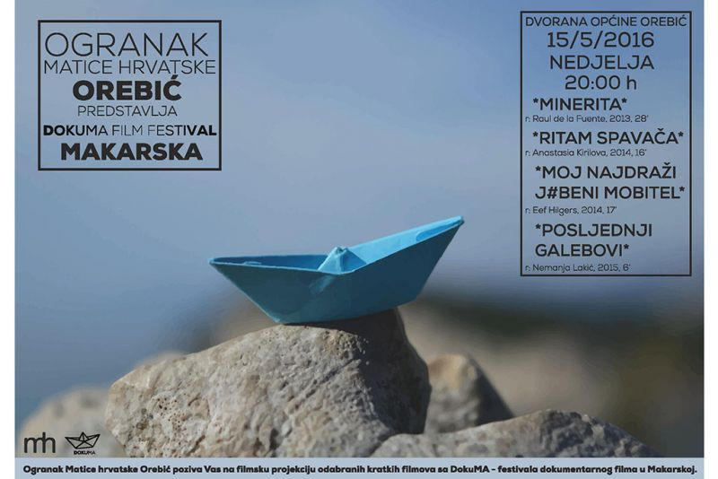 Noć kratkih dokumentarnih filmova - u nedjelju u Orebiću