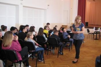 Sanja Pilić na druženju s djecom