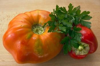 Organski uzgojeno povrće - ilustracija