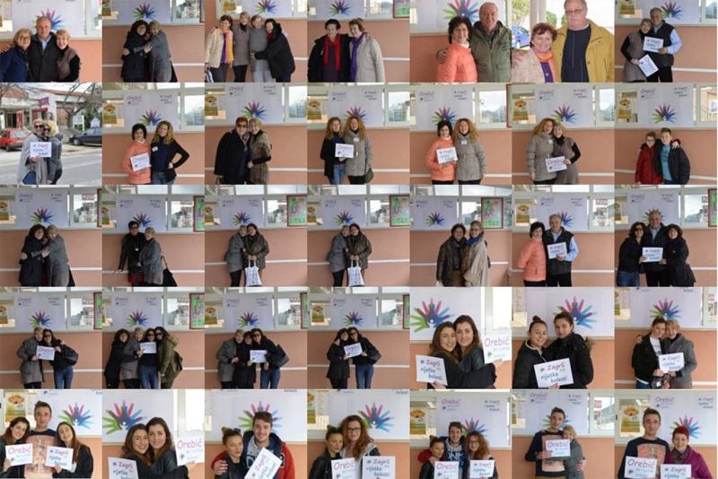 Neke od fotografija s orebićke akcije 'Zagrli za rijetke'