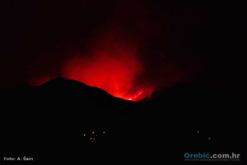 Požar na Pelješcu