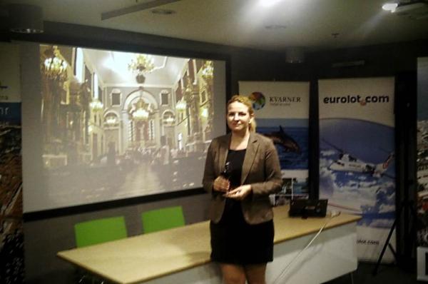 Direktorica turističkog ureda TZO Orebić na sajmu u Gdansku