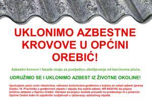Detalj plakata: zamjena azbestnih krovova i fasada