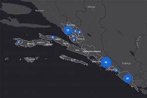Ilustracija: ukupan broj evidentiranih slučajeva Covid-19 na području DNŽ