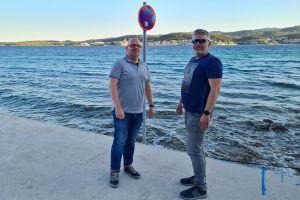 Mikuš i Dajak na lokaciji buduće trajektne luke u Perni