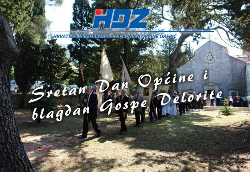 Čestitka povodom Dana općine i blagdana Gospe Delorite Općinskog odbora HDZ-a