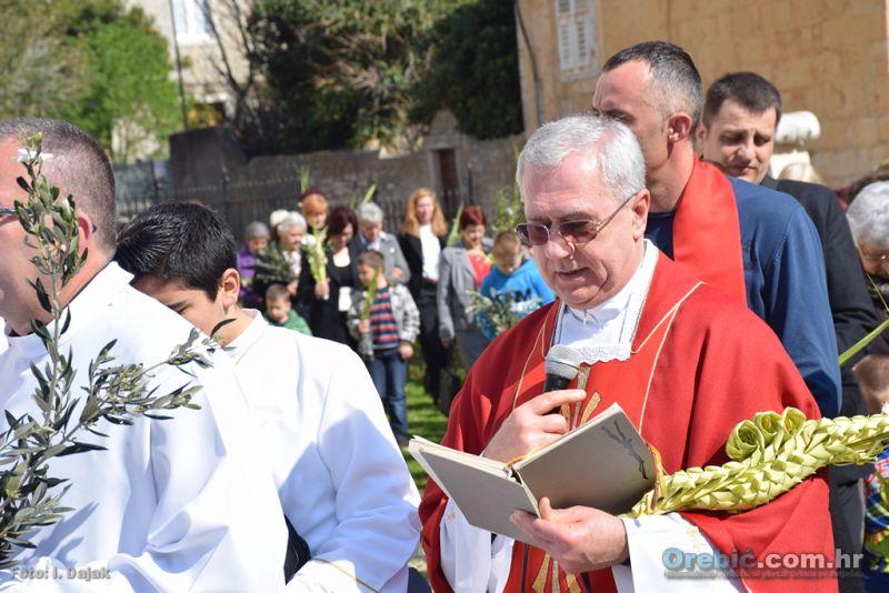 Obilježavanje blagdana Cvjetnice u Orebiću